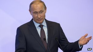President Putin speaking in Crimea