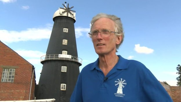 Manager Jim Bailey said it was the first time the windmill eight sails replaced at the same time