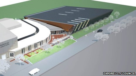 blackbird leys swimming pool construction begins bbc news