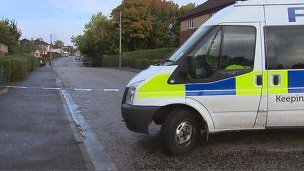 Police at Hermiston Road