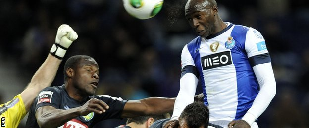 New Manchester City defender Eliaquim Mangala playing for FC Porto