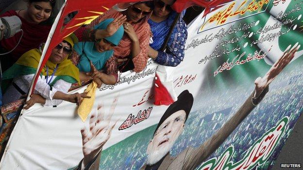 Tahirul Qadri's supporters in Lahore