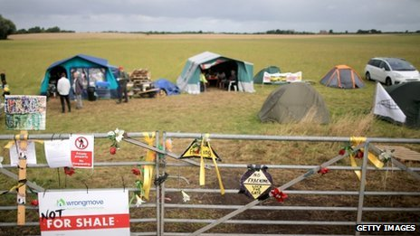 Anti-fracking camp