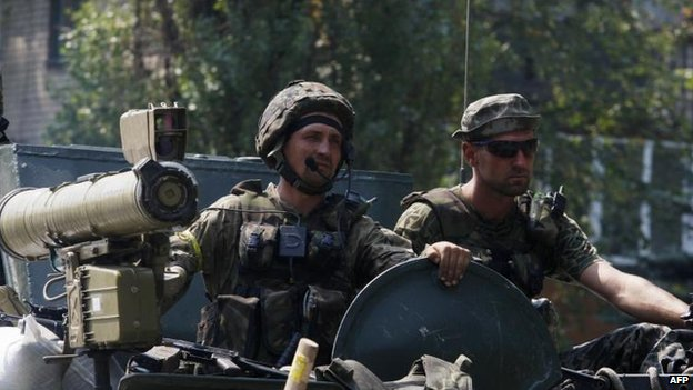 Ukrainian troops in Vuglegirsk, 14 Aug
