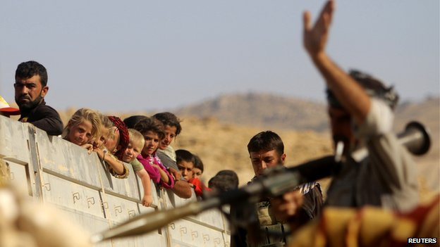 Displaced Yazidis
