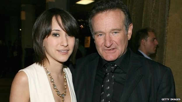 Zelda Williams and Robin Williams backstage during the 33rd Annual People's Choice Awards held at the Shrine Auditorium in Los Angeles, California. 9 January 2007