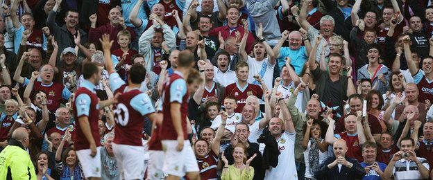 Burnley enjoyed a famous victory over Manchester United at Turf Moor in August 2009