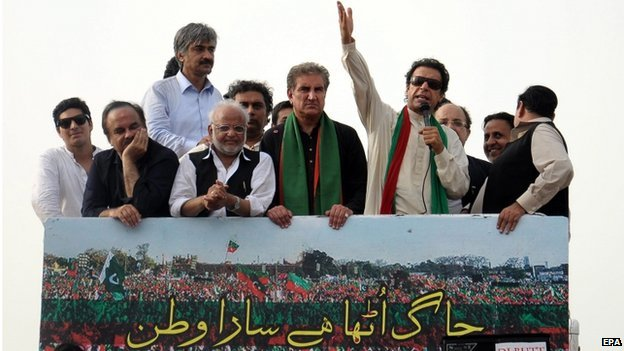 Imran Khan on march 15 August 2014
