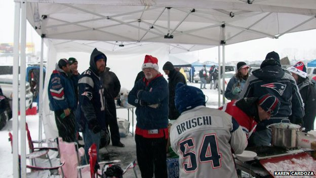 Tailgating in the snow