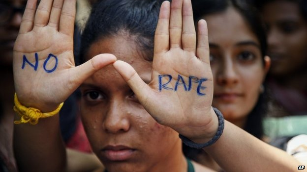 An anti-rape protest in India in Hyderabad, India, Friday, Sept 13, 2013