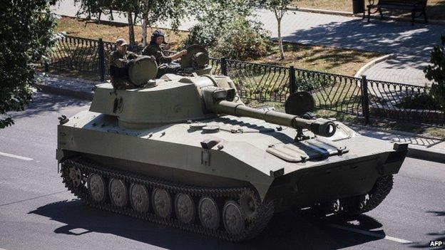 Pro-Russian howitzer