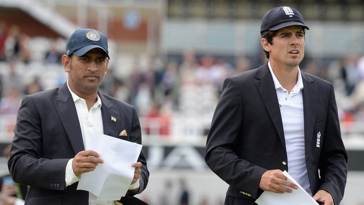 Mahendra Dhoni and Alastair Cook