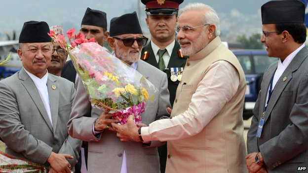 Modi meeting Nepal's leader  - 2014