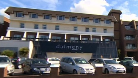 Dalmeny Hotel on South Promenade in St Annes, Lancashire