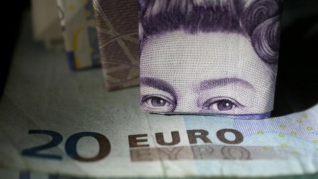 Eyes of the Queen on a banknote