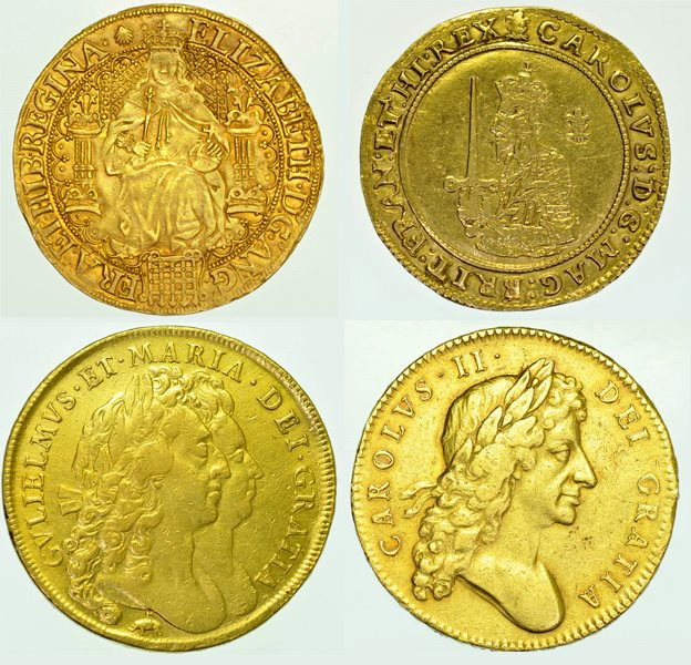 Selection of the 17th Century coins stolen from Swanton Morley