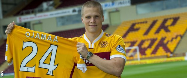 Motherwell forward Henrik Ojamaa
