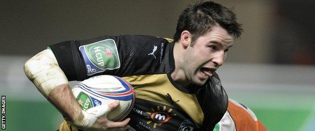 Johnnie Beattie playing for Montpellier