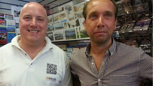 Bitcoin customer and newsagent