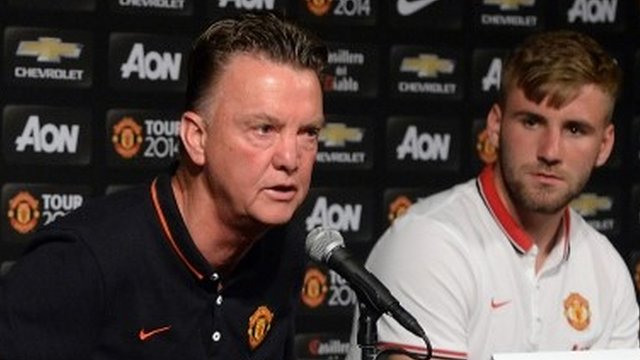 Louis Van Gaal (left) and Luke Shaw