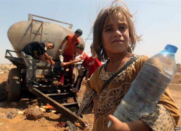 Yazidi refugees in Syria, 14 Aug 14
