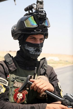A member of the Iraqi security forces near Ramadi, 15 August