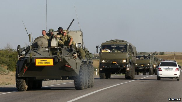 Russian military near Ukraine border, 15 Aug 14