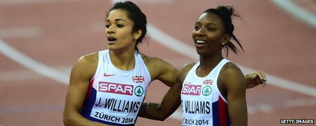 Jodie and Bianca Williams