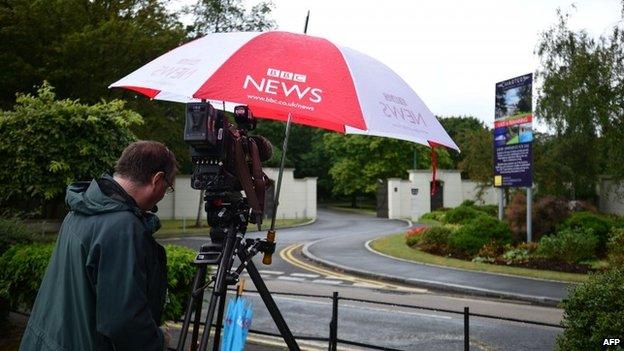 BBC cameraman outside Sir Cliff Richard's home