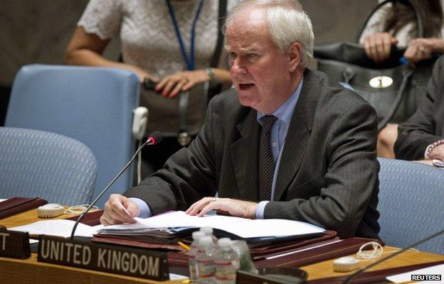 UK ambassador Sir Mark Lyall Grant