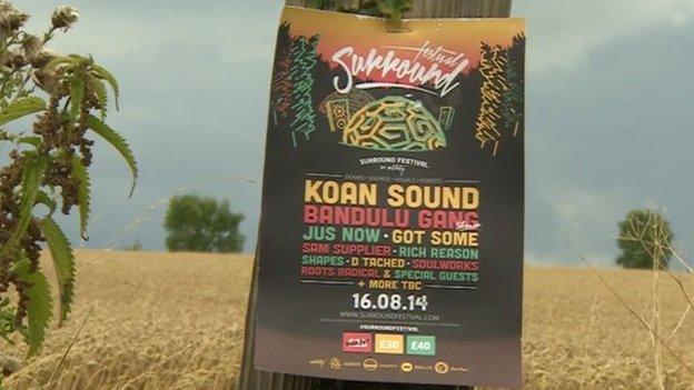 Surround Festival poster