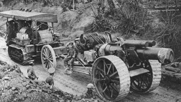 Holt tractor at Battle of the Somme