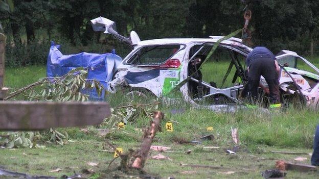 Fermanagh crash scene