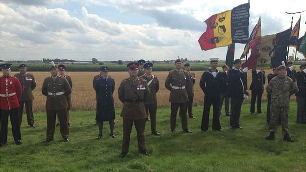 Members of all Armed Forces are represented at the memorial unveiling