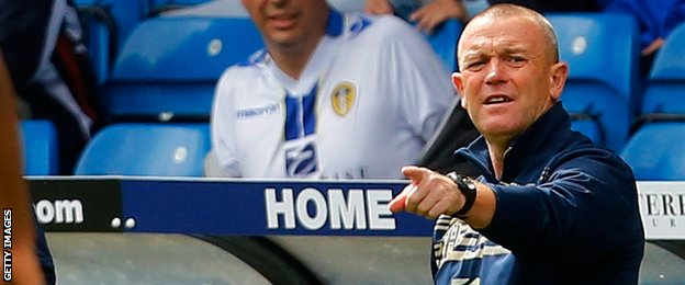 Leeds manager Dave Hockaday