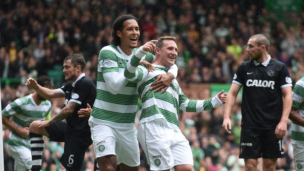 Kris Commons and Virgil van Dijk