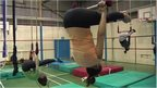 Women at trapeze class