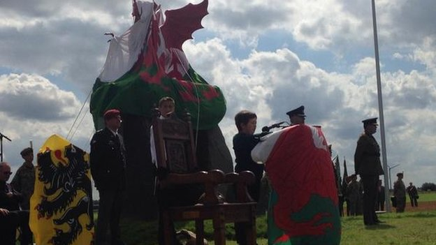 Gwydion Rhys, 11, from Bangor recounts the story of a local soldier who died in the Great War