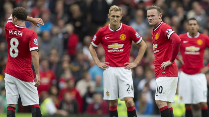 Juan Mata, Darren Fletcher and Wayne Rooney