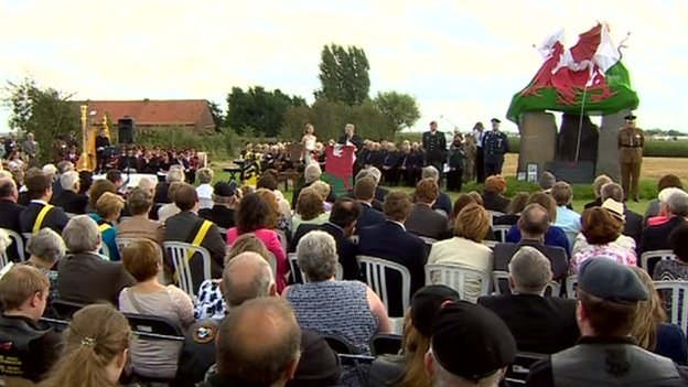 The memorial will be unveiled at the end of the service