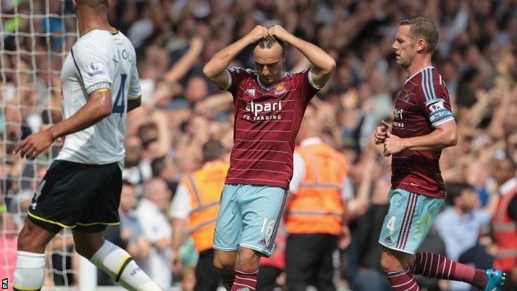 Mark noble reacts to missing penalty