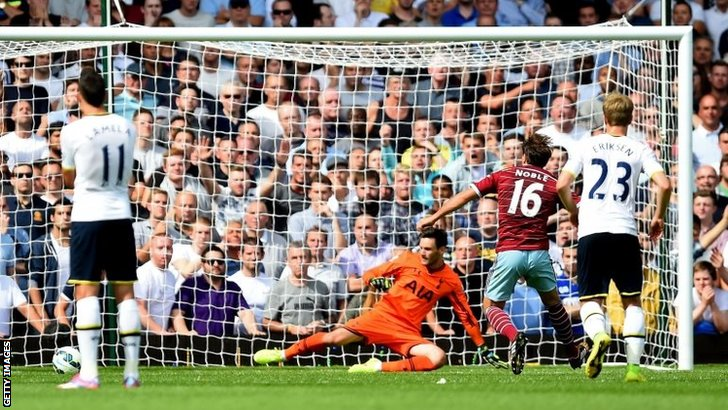 Mark Noble misses penalty
