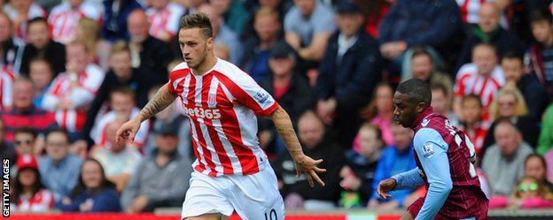 Stoke forward Marko Arnautovic