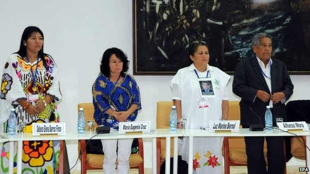 Representatives of the victims join the talks in Cuba for the first time, 16 Aug 14