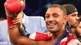 Kell Brook celebrates beating Shawn Porter