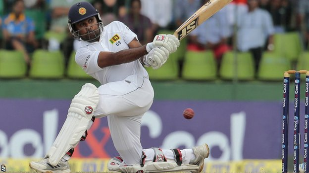 Sri Lanka batsman Mahela Jayawardene in action against Pakistan