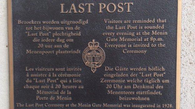 Last Post sign