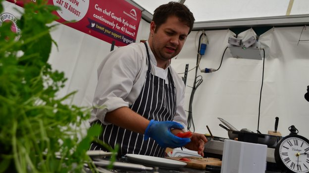 Gareth Kyle cooking