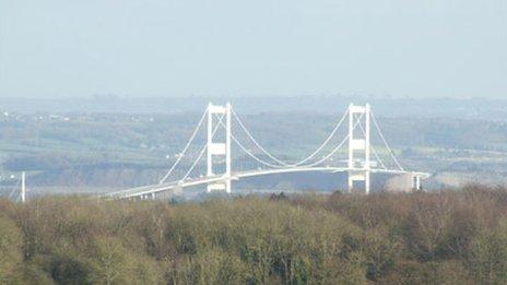 The old Severn Bridge
