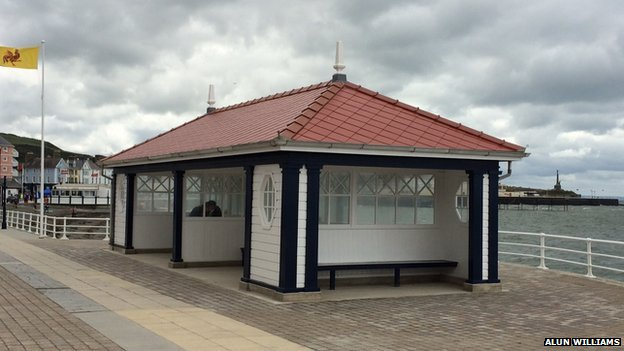 The newly-restored shelter was opened on Saturday